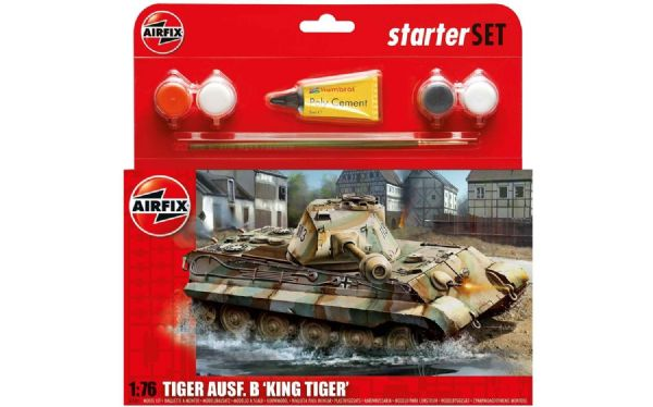AIRFIX A55303 Medium Starter Set - King Tiger Tank